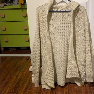 Knit cardigan from Garage, light and breezy beige